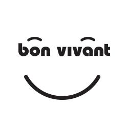 Logo bonhomme sourire vin bon vivant